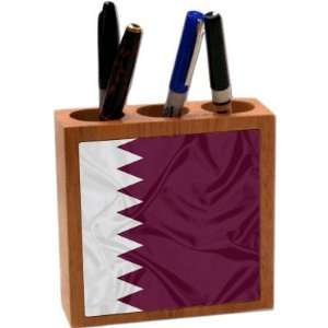 com Rikki KnightTM Qatar Flag 5 Inch Tile Maple Finished Wooden Tile