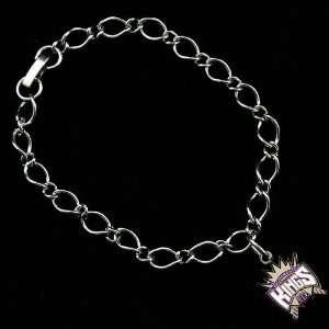 NBA Sacramento Kings Ladies Silver Tone Charm Bracelet