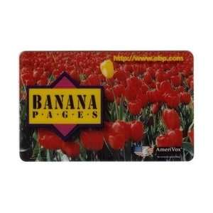 Collectible Phone Card Banana Pages (Yellow Flower In Field of Red