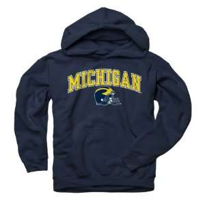 Michigan Wolverines Youth Navy Football Helmet Hooded