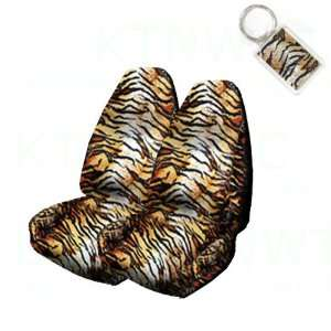 Set of 2 Universal Fit Animal Print High Back Bucket Seat Covers and