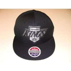 Zephyr Los Angeles Kings Snapback Cap Hat Black Logo   Mens NHL