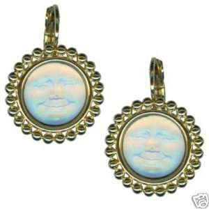 KIRKS FOLLY SEAVIEW GLASS EARRINGS MAN IN THE MOON GT