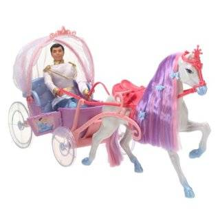 Barbies 2009 Horse and Carriage (Doll Not Included