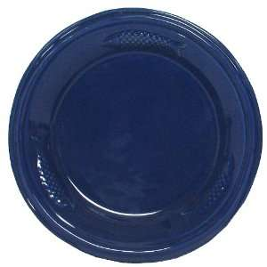 Blue Fish Ceramic Pottery Salmon Salad Plate Set of Two 8.25 x 1