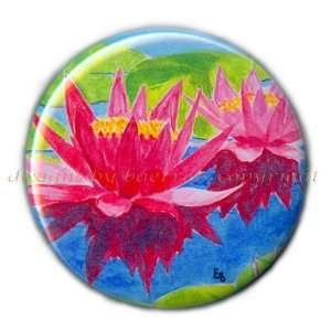 com Flat Art Purse Pocket Mirror   Print From Original   Water Lily