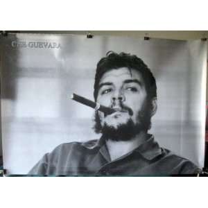 Che Guevara with cigar black & white POSTER 34 x 23.5