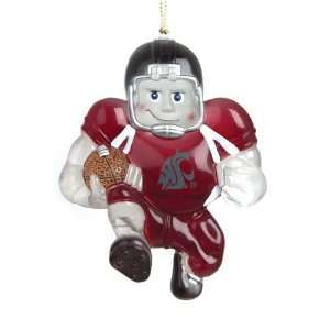 Washington State Cougars NCAA Acrylic Halfback Player Ornament (3
