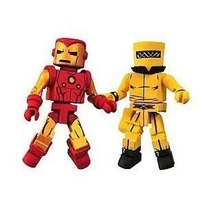 MiniMates Series 25 Bolt Face Iron Man and Aim Soldier Toys & Games