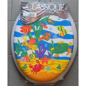 Caribbean Delight Elongated Soft Padded Toilet Seat