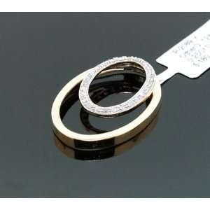 Ladies Fancy Designer Yellow Gold Diamond Charm Pendant 0.25ct