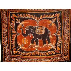 Lucky Batik Elephant Tapestry Wall Hang Many Uses