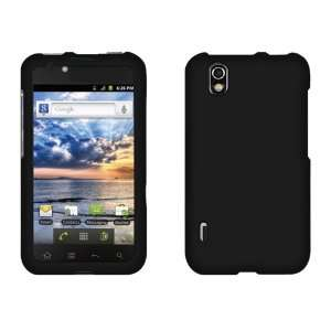 LG Marquee LS855 Rubberized Hard Case Cover   Black Cell