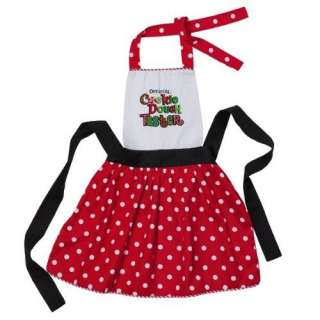 Christmas Official Cookie Dough Taster Kids Apron, Black, Red