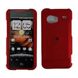 HTC Droid Incredible Premium Rubberized Red Snap On Phone