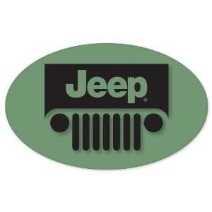 Jeep Wrangler logo oval vynil car sticker window decal 5