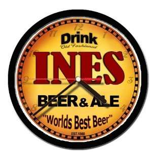 INES beer and ale cerveza wall clock: Everything Else