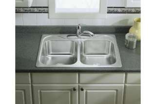 Sterling 11402 5 NA Southhaven Kitchen Sink 33 x 22 x 8 Double Bowl
