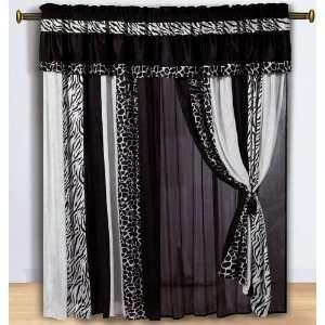 Design Window Curain / Drape Se wih Sheer Backing Home & Kichen