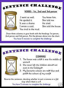 Primary Teaching Resources Yr5 Sentence challenge cards