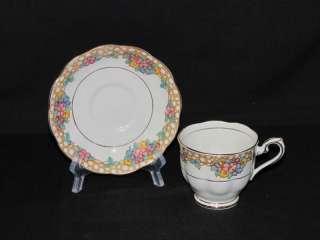 Royal Albert Floral Crown China England Teacup/Saucer