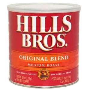 Hills Bros Coffee, Original Blend, Medium Roast, 39 oz (1