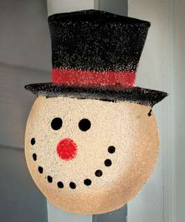 CHRISTMAS HOLIDAY SNOWMAN OUTDOOR LIGHTED PORCH LIGHT COVER YARD DECOR