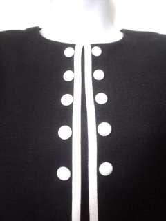 Danny & Nicole NY Black White Mock Twin Dress 10P 10 Petite Career