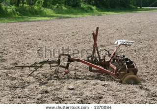 Ancient Horse Drawn Farm Equipment Stock Photo 1370084 : Shutterstock