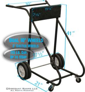 NEW 315 LB OUTBOARD BOAT MOTOR STAND CARRIER CART DOLLY