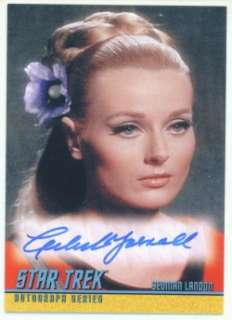 CELESTE YARNALL AUTOGRAPH A165 STAR TREK 40TH SERIES 2