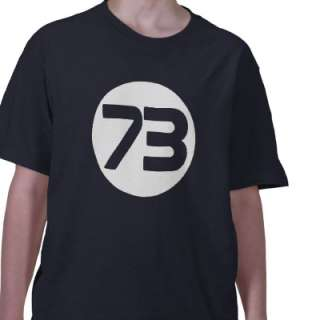 73 the best number Big Bang Sheldon t shirt from Zazzle