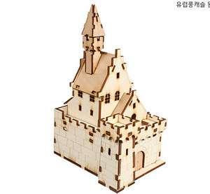 European Style Castle YM656 / Wooden Model Kit