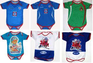Cruz Azul Mexico Futbol Soccer Bodysuit Infant 6 12 M