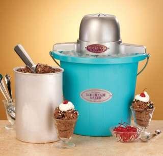 Electrics Icmp 400Blue 4 Quart Plastic Bucket Ice Cream Maker   Blue