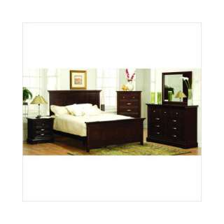 : Woodbridge Home Designs 4 Piece 1349 Series Bedroom Set: Furniture