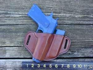 Colt 1911 .45 acp full size & magazine holster brown