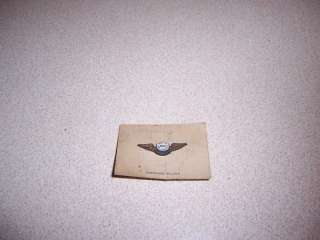 WWII US ARMY AIR FORCES AWS OBSERVER WINGS STERLING PIN