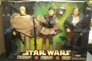 Wars Action Collection 12 Figure 3 Pack Luke,Leia & Han Solo