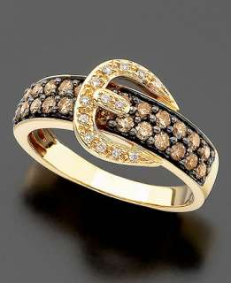 Le Vian 14k Gold Ring, Chocolate Diamond (5/8 ct. t.w.) and White