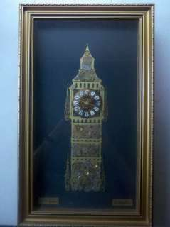 Big Ben London Horological Collage Wall Clock Made of Clock Parts