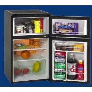 cu. ft. Compact Top Freezer Refrigerator   Black