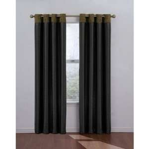 Venetian Blackout Grommet Window Drape in Black Size: 52