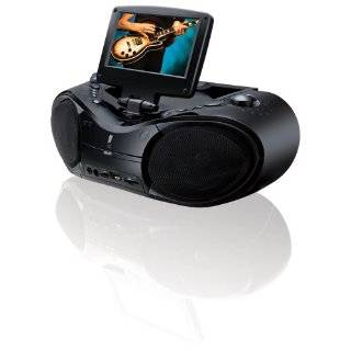 GPX BT790SB Portable DVD/CD/AM/FM Radio Boombox with 7 Inch LCD