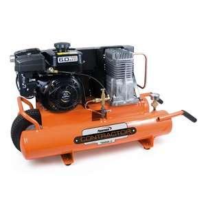 Gallon Subaru Powered Oil Lubricated Belt Drive Air Compressor Tools