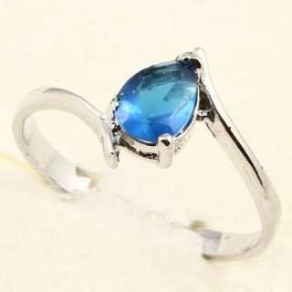 PEAR CUT BLUE SAPPHIRE *91* RING