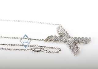 Roberto Coin 18K White Gold Diamond X Necklace Pendant