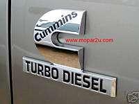 Cummins Diesel Emblem/Nameplate   Dodge Ram New/OEM