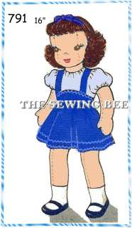 791 Girl Jointed Rag DOLL PATTERN vintage