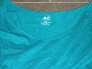 NWT Duo Maternity Teal Green Turquoise Top Shirt L
